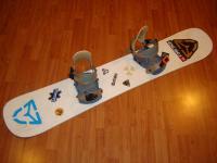 Snowboard komplet SIXM 145cm bazar ZÁRUKA